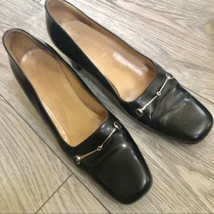 Gucci Leather mid-heel pump Authentic